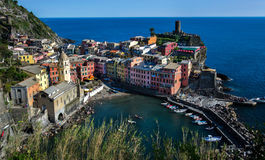 Italië Vernazza Cinque terre Stock Afbeeldingen
