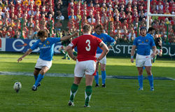 Italië versus Wales, zes natierugby Stock Afbeeldingen