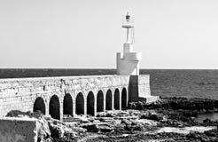 Italië: Witte vuurtoren van Otranto royalty-vrije stock afbeelding