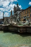 Itali?, Rome, piazza navona Antiquiteit, fontein stock foto