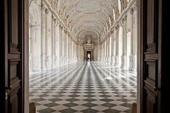 Italië - Royal Palace: Galleria Di Diana, Venaria Stock Afbeelding