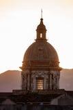 Italië, Sicilië Detail van Carmine Maggiore-koepel in Palermo Stock Afbeeldingen