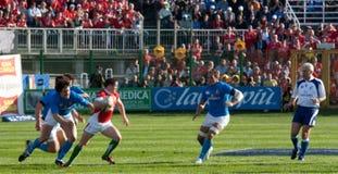 Italië versus Wales, zes natierugby Royalty-vrije Stock Fotografie