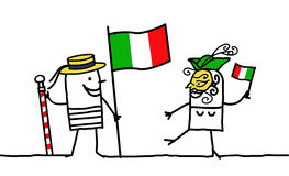 Italia !. Vector hand-drawn characters line Stock Photography