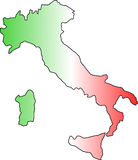 Italia. Italy with the tint of colours of the flag Royalty Free Stock Photography