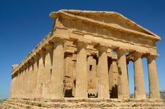 Italia - Agrigento: Templo de Concordia Imagen de archivo libre de regalías