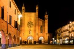 Italia Alba, Piazza Duomo Fotografía de archivo libre de regalías
