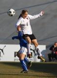 Italia - Austria, fútbol femenino U19; emparejamiento cómodo Foto de archivo libre de regalías
