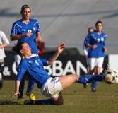 Italia - Austria, fútbol femenino U19; emparejamiento cómodo Imágenes de archivo libres de regalías