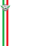 Italia background. Italian background with 70's style stripes in the colours of the italian flag Stock Images