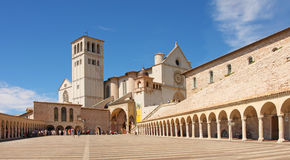 Italia, basílica del d'Assisi de San Francisco Imagen de archivo libre de regalías
