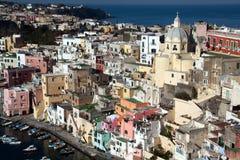 Italia-Campania-procida-Corricella Imagenes de archivo