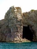 Italia, Cerdeña, isla del ` s de San Pedro, acantilados imágenes de archivo libres de regalías