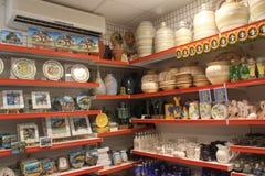 Italia, Cerdeña, tienda de souvenirs Foto de archivo libre de regalías