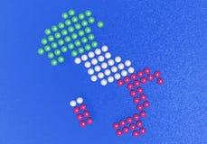 Italia compuso de pequeñas esferas Imagen de archivo libre de regalías