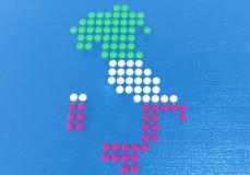 Italia compuso de puntos Imágenes de archivo libres de regalías