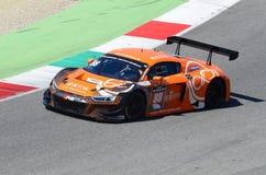 Italia - 29 de marzo de 2019: Audi R8 LMS 2019 del equipo de Alemania del Motorsport de la colección del coche imágenes de archivo libres de regalías