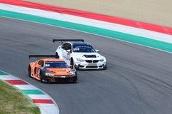 Italia - 29 de marzo de 2019: Audi R8 LMS 2019 del equipo de Alemania del Motorsport de la colección del coche foto de archivo libre de regalías
