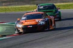 Italia - 29 de marzo de 2019: Audi R8 LMS 2019 del equipo de Alemania del Motorsport de la colección del coche fotos de archivo