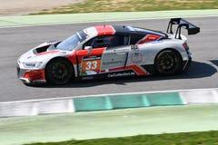 Italia - 29 de marzo de 2019: Audi R8 LMS 2019 del equipo de Alemania del Motorsport de la colección del coche imagen de archivo
