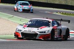 Italia - 29 de marzo de 2019: Audi R8 LMS 2019 del equipo de Alemania del Motorsport de la colección del coche imagenes de archivo