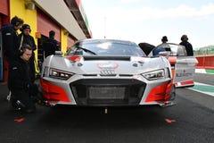 Italia - 29 de marzo de 2019: Audi R8 LMS 2019 del equipo de Alemania del Motorsport de la colección del coche imagen de archivo libre de regalías