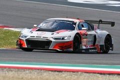 Italia - 29 de marzo de 2019: Audi R8 LMS 2019 del equipo de Alemania del Motorsport de la colección del coche foto de archivo