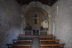 2016 Italia Dentro de Chiasetta di San Giacomo di Calino Imágenes de archivo libres de regalías