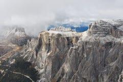 Italia, dolomías, Sass Pordoi Imagen de archivo libre de regalías
