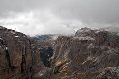 Italia, dolomías, Sass Pordoi Fotografía de archivo