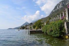 2016 Italia El wiev hacia Gargnano Imagen de archivo libre de regalías