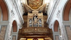 Italia en una iglesia magnífica foto de archivo libre de regalías
