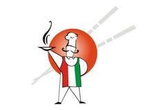 Italia es pizza libre illustration