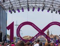 100. `-Italia för Postgirot D etapp Arkivfoto