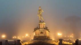 Italia, Florencia - 9 de enero de 2019: David Statue en Piazzale Michelangelo Florence, Italia metrajes