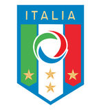 Italia football logo Royalty Free Stock Images