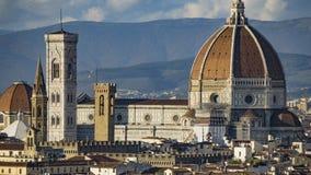 Italia Hermosas vistas de Florencia, catedral Santa Maria del Fiore Fotos de archivo libres de regalías