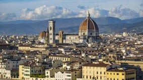 Italia Hermosas vistas de Florencia, catedral Santa Maria del Fiore Imagenes de archivo