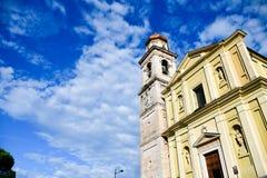 Italia Hurch del ¡de Ð en San Zeno di Montagna fotos de archivo libres de regalías