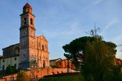 Italia Hurch del ¡de Ð en San Zeno di Montagna foto de archivo