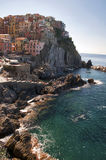 Italia - Liguria - Cinque Terre - Manarola - mar Fotografía de archivo libre de regalías