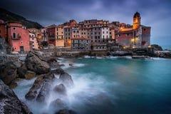 Italia, Liguria, Riviera di Levante, Tellaro Fotos de archivo libres de regalías