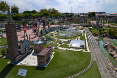Italia in Miniatura - park. Famous thematical park in Rimini, Italy with over 300 miniatures of most popular buildings of Italy Stock Photos