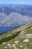 Italia, Monte Baldo, paraplane fotografía de archivo libre de regalías