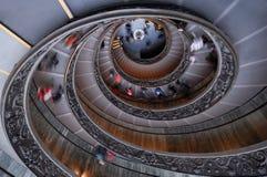 Italia. Museo de Roma Vatican. Escalera de la hélice doble Foto de archivo libre de regalías