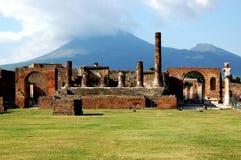 Italia, Nápoles, Pompeya y el Vesuvio fotografía de archivo libre de regalías