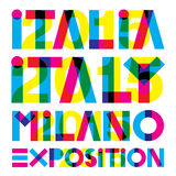 Italia 2015. Original graphic elaboration italia 2015 stock illustration