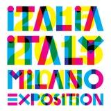 Italia 2015. Original  graphic elaboration italia 2015 Royalty Free Stock Images