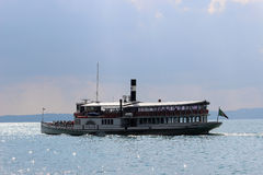 Italia paddle steamer on Lake Garda at Bardolino Royalty Free Stock Images