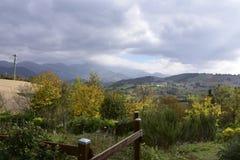 Italia, paisaje, cielo, límite, panorama, nubes, Fotografía de archivo libre de regalías